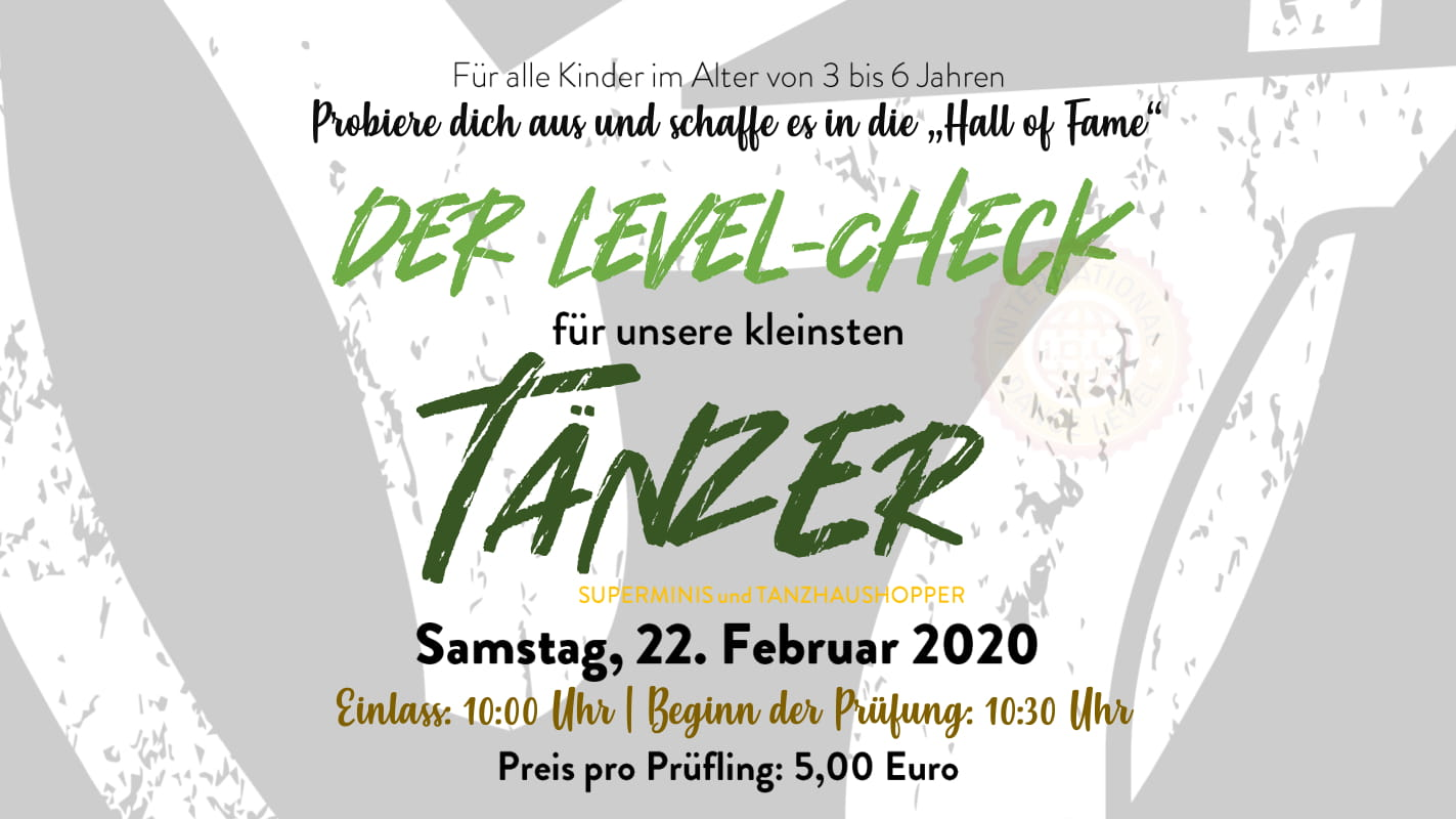 Das International Dance Level | Samstag, 22. Februar 2020